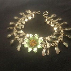 Vintage art deco flower bracelet